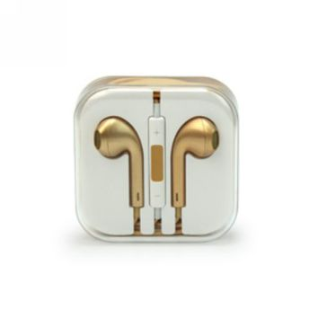Gold Earphone Headset Earbuds In-Ear with Remote Mic for iPhone 5 5S iPad 4 ipod