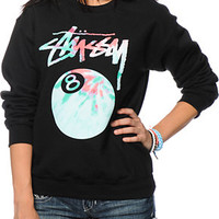 Stussy Tie Dye 8 Ball Crew Neck Sweatshirt