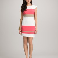 Misses | Dresses | Coral Colorblock Dress | dressbarn