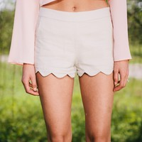 Scalloped Sweetheart Shorts