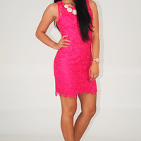 RESTOCK: Show You Off Dress: Fuchsia