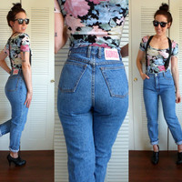 Vintage 90's High Waisted Skinny Bongo Jeans Fitted Leg 29 Waist