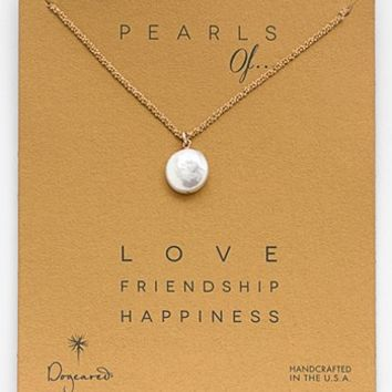 Dogeared 'Pearls of...' Boxed Coin Pearl Necklace | Nordstrom