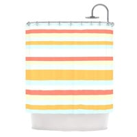 "Nika Martinez ""Sand Stripes"" Shower Curtain"