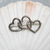 Tiffany Sterling Heart Brooch Jewelry