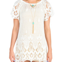 Crochet Short Sleeve Dress