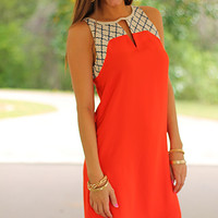 Moroccan Beauty Dress, Red