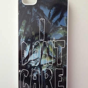 I Don't Care Palm Trees iPhone Case