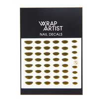 Wrap Artist Nail Decals - Metallic Moon - Gold