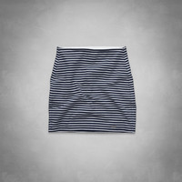 a&f high rise striped knit mini skirt