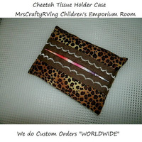 Cheetah, Travel Tissue Holder, Tissue Case, Cheetah Tissue Case, Cheetah Print, Snot Catcher