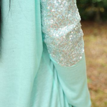 Sparkle In The Dark Top: Sky Blue