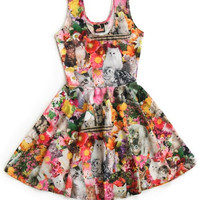 Kitty Garden Flare Dress