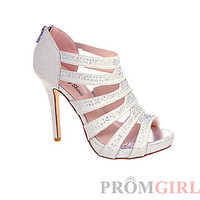Julianne Silver Open Toe High Heel