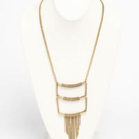 TIERED FRINGE NECKLACE