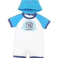 "Rocawear ""Summer Scrolling"" Romper & Hat Set (Sizes 0M - 9M)"