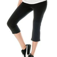 Motherhood Maternity: Secret Fit Belly(tm) Jersey Knit Cropped Straight Leg Maternity Yoga Pants