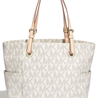 MICHAEL Michael Kors 'Medium Jet Set Signature' Tote | Nordstrom