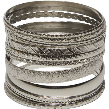 Everyday Metal Bangle Set | Wet Seal