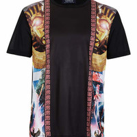 Black Cosmic Closed Mesh T-Shirt - Men's T-Shirts & Vests - Clothing