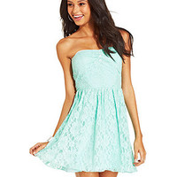 Speechless Juniors' Strapless Lace Dress