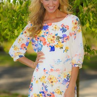 Picking Dandelions Tunic-Ivory