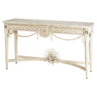 Devereux Shell and Coral Console Table - Belle Escape