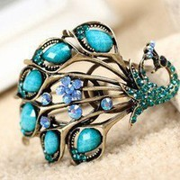 New arrived Vintage Blue Peacock&Gem Bangle Bracelet Free shipping hot | eBay
