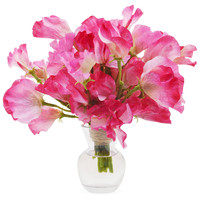 "9"" Sweet Pea in Vase, Faux"