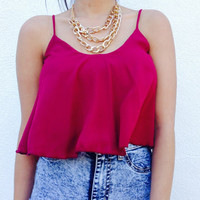 Alex Burgundy Top