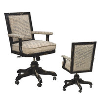 Scripted Fabric Office Chair - Belle Escape