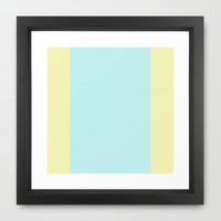Re-Created Interference ONE No. 24 Framed Art Print by Robert S. Lee