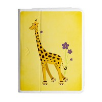 Yellow Cute Smiling Giraffe iPad 3 Folio
