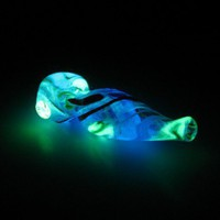 Glowing Glass Art Pipe CA2 | thegoodtimesglass - Accessories on ArtFire