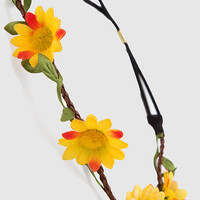 Alexa Floral Headband - Yellow