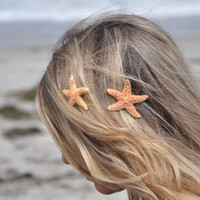 Starfish Hair Clips Small TWO Included SOOO by ShepherdoftheSea