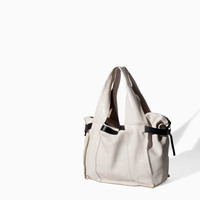 WHITE LEATHER BOWLING BAG