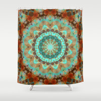 Bohemian Snowflake Shower Curtain by Webgrrl | Society6