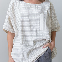 Hackwith Design Ida Striped Cotton Top [Ida Cotton Striped Top] : ORN HANSEN, Vintage + American Made General Store