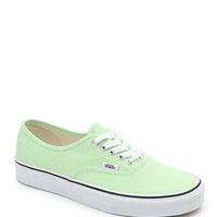 Vans Authentic Paradise Green Sneakers - Womens Shoes - Green -