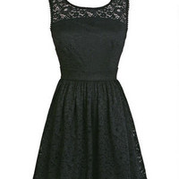 Crewneck Lace Dress