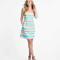 Painted Stripe Strapless Dress