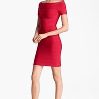 Herve Leger Off Shoulder Bandage Dress | Nordstrom