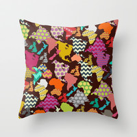 geometric world Throw Pillow by Sharon Turner