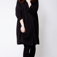 Strawberry And Clothier Vintage Black Coat — Bib + Tuck