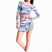 Tropical Space Mini Skirt