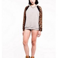 Leopard Raglan Sweater