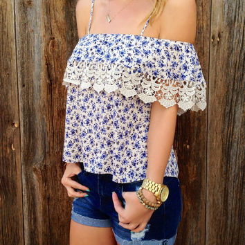 Off Shoulder Flounce Top