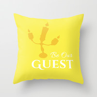 BE OUR GUEST  Throw Pillow by Lauren Lee Designs