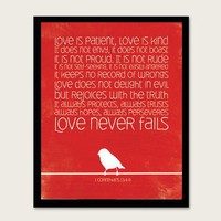 1 Corinthians 13 48 Red by MeganRene on Etsy